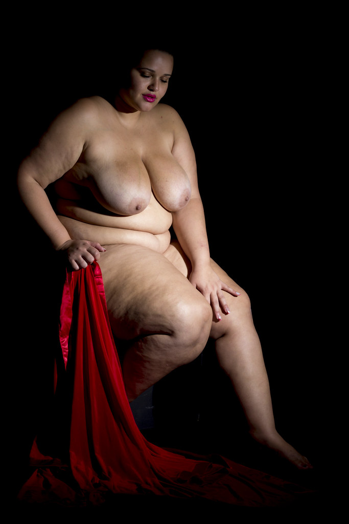 Nude woman artistic plus size