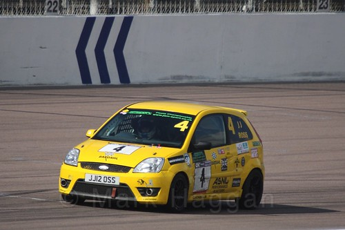 James JJ Ross in Fiesta Racing at Rockingham, Sept 2015