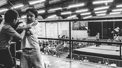 Nashville, Tennessee (G. L. Brown) Tags: blackandwhite bw kids contrast children fight nashville tennessee candid wrestling streetphotography gritty arena grainy nashvillestreetphotography
