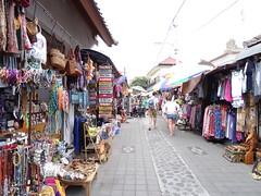 Les rues vers le marché couvert de Ubud