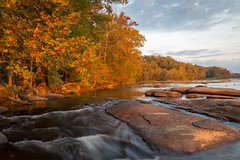 (cpjRVA) Tags: fall nature water sunrise river landscape richmond foliage va rva jamesriver ponypasture canoneos6d rvanews