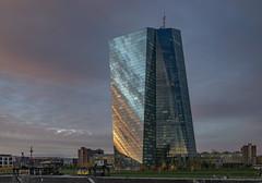 EZB_987 (O.S.F.) Tags: skyscraper european frankfurt architektur spiegelung centralbank ecb hochhaus ezb zentralbank europische