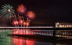 Weston pier fireworks display (technodean2000) Tags: weston super mare fireworks display pier grand light nikon d610 lightroom glow bang