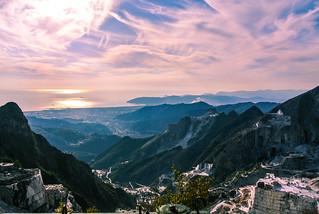 Marble quarry in Carrara/Tuskany - Marmor-Steinbruch in Carrara/Toskana