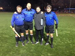"Jim Sadowski - Referee, Chris Scheve AR1, Sami Litric AR2, Vito Testa 4th Official.   McDaniel University vs SUNY Oneonta at Carnegie Mellon University.   NCAA tournament First Round • <a style=""font-size:0.8em;"" href=""http://www.flickr.com/photos/91858439@N05/23021529502/"" target=""_blank"">View on Flickr</a>"