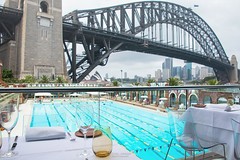 Aqua Dining. (God_speed) Tags: new bridge pool wales swimming point aqua harbour south north sydney australia shore nsw dining lower milsons kirribilli