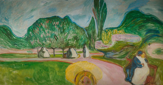 Edvard Munch - Kissing Couples in the Park (The Linde Freize), 1904 at Munch Museum Oslo Norway
