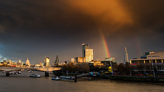 Transient (48/50) (Stuart Stevenson) Tags: uk bridge sky storm london photography scotland rainbow stpauls southbank embankment walkietalkie goldenjubileebridge waterloobridge cheesegrater clydevalley turbulent theshard stuartstevenson sothbankcentre