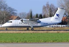 7O-ADS Dash 8-100 Blue Bird Aviation Yemen (MM Aviation Photography) Tags: maastricht bba dash8 mst bombardier ehbk dhc8 dh8a 7oads bluebirdaviationyemen