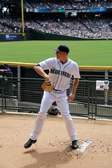 Tall Mike Montgomery (NJ Baseball) Tags: seattle washington mariners safecofield pregame seattlemariners americanleague 2015 daygame majorleagues mikemontgomery
