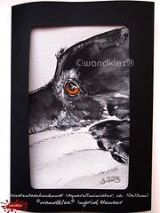 Nachdenklich (wandklex Ingrid Heuser freischaffende Künstlerin) Tags: ingrid watercolor foto etsy comission malerei heuser dawanda auftragsmalerei wandklex