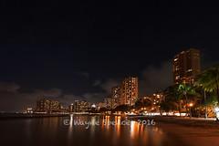 Waikiki Beach At Night (barachois50) Tags: hawaii waikiki waikikibeach oahu