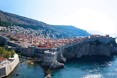 Walled City of  Dubrovnik (Herculeus.) Tags: 2016 adriaticsea aug bouldersstonerocks buildings churches croatia dalmationcoast dalmationmountains dubrovnik medieval mountains rampart residential sea shipsboats towers unescoworldheritagesite walls architectureinpixels 5photosaday outdoor landscape water