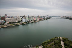 View from Janggakdo Hotel in Pyongyang, North Korea (DPRK) (tommcshanephotography) Tags: adventure asia communism dprk democraticpeoplesrepublicofkorea expedition exploring kimilsung kimjungil kimjungun northkorea pyongyang revolution secretcompass travel trekking