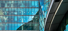 The Blues.... (+Pattycake+) Tags: architecture reflections embankment uk windows glass londonsightseeing metal london blues abstract