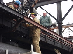 Pouring trestle repair-2 (algimantas_tirlikas) Tags: building chimney construction crane montage mounter pipeline pipes rafinery workman work outdoor