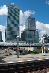 Skyscrapers (D_Alexander) Tags: uk england london eastlondon docklands poplar poplardlrstation skyscrapers