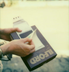 the decisive moment (lawatt) Tags: heather polley hands peelapart sanfrancisco polawalk missiondistrict film instant theimpossibleproject color600 slr680