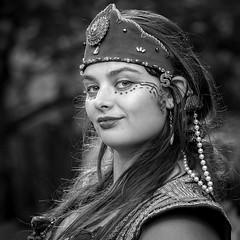 Gypsy Woman (Jim-Mooney) Tags: bw black white blackwhite blackandwhite mono monochrome monotone people portrait renaissance festival fuji xt1 fujinon 50140mm