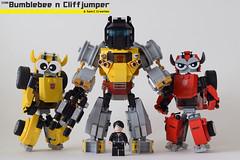 BC Thank you (Sam.C MOCs S2 Studios)) Tags: lego transformers bumblebee cliffjumper chibi moc mech robot anime car scifi 80s
