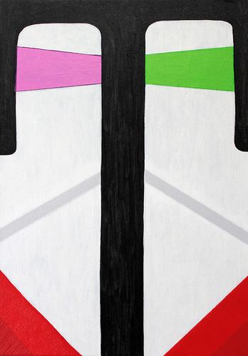Alex Gene Morrison 'Helmet', 2016 Oil on canvas 42x30cm