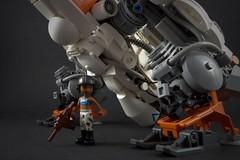Ma.K. Jagpanther Mercenary Pilot Lieutenant Fredrika (Peaceful Ruler) (Marco Marozzi) Tags: lego legomech legodesign logomecha legofriends marco marozzi moc mech mak maschinen krieger walker minifigure maktober