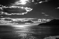 Clouds in a sunny day... (gioturco) Tags: blackandwhite biancoenero bw bn beach clouds sea sunnyday outdoor top10 bestof