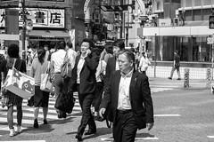 places to go (edwardpalmquist) Tags: shibuya tokyo japan blackandwhite monochrome city street urban crosswalk outdoors people man woman fashion travel
