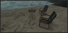 Rusty elegance @ Furillen (stormyseas11) Tags: furillen sl secondlife rust virtual table chairs abandoned