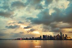 Cloud Cutter (Andy Brandl (PhotonMix.com)) Tags: landscape cityscape typhoonclouds stormysky cuttingthrough weather skyline modern hdr nikon photonmix jianggan hangzhou bridge fuchunriverbridge highrisesskyscrapers