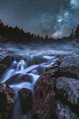 Flowing Fantasy (ferle) Tags: milchstrae astro astrophotography austria bright carinthia colors flow fluss gail krnten landscape milkyway nature nightsky outdoor perseids river schtt sleeping starry summer sterreich