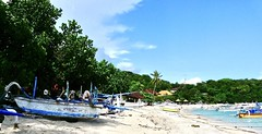 Padangbai : the beach . (Franc Le Blanc .) Tags: panasonic lumix indonesia bali padangbai beach pantai boats