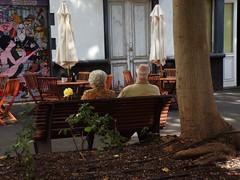 (Irina Gonzlez) Tags: people street city couple light tree flower