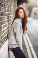 Egle (marcin.kopycinski) Tags: portrait street natural light fashion redhead red hair jumper autumn girl female pretty location outdoor people