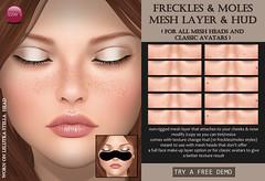 Freckles & Moles Mesh Layer & Hud (Izzie Button (Izzie's)) Tags: mesh layer sl freckles moles izzies