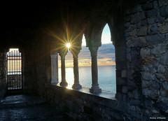 Windows in Portovenere (Darea62) Tags: windows portovenere sea sun castle door gate stones seascape sunset columns history architecture balcony star