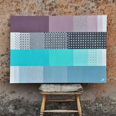 Fibonacci in 4 toni  70x100cm , vernice su tela (.krayon) Tags: krayon canvas customcanvas painting myart art pixel pixelart fibonacci pattern abstract pixelgallery 8bitart