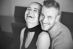 Smile (pietzucker) Tags: smile available availablelight artless atmosphere atmosphre beautiful beauty blackandwite canon 700d 50mm couple emotion eye eyes peoples female male homeshooting impression indoor light nice life girl look love natural portrait pair people shooting young boy paar
