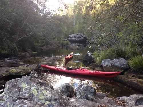 Kayaks on Mooney Mooney Creek, Brisbane Water National Park