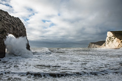 Swyre Head and Durdle Door (rexlindis) Tags: dorset durdledoor england swyrehead landscape sea seascape wave waves