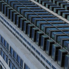Building Blocks (No Great Hurry) Tags: skidmoreowingsmerrill angles angular london balconies buildingblocks urbanabstract architecture blue building robinmauricebarr nogreathurry abstract southquay canarywharf diagonal geometric buildingstructure square glass glazing