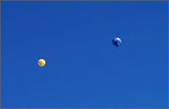 Balloons... (Everest Daniel) Tags: blue sky heaven balloon yellow freedom wings fly