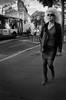 La Blonde (Olivier DESMET) Tags: olivierdesmet noirblanc nb blackandwhite bw monochrome street streetphoto candid lesgens photosderue blonde ricoh ricohgr gr 28mm