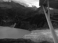 Over skilak glacier, #alaska, looking towards Harding ice field. #avgeek