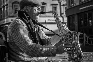 Street Portrait - saxman