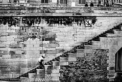 The Piggyback Ride (gwpics) Tags: seine france steps monochrome french street people couple black paris streetphotography blackandwhite mono white blackwhite person socialcomment socialdocumentary society strasenfotograpfie bw lifestyle streetpics