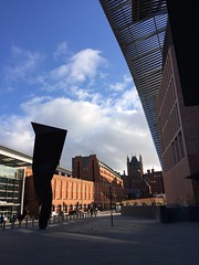 Crick (My photos live here) Tags: london capital city england buildings kings cross station francis crick institute blue sky pancras road overhang