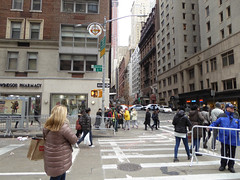 Parade Day Ghost Streets New York November 2016 (1145) (Richie Wisbey) Tags: ghost streets new york quiet closed off crosstown traffic macys polie policing sand trucks cops nypd guns protect serve felt safe best force earth excellent logistical nightmare empty scenes richard wisbey flickr usa exploring explored