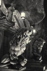 Be Our Guest - Magic Kingdom (fisherbray) Tags: fisherbray usa unitedstates florida orangecounty orlando baylake disney waltdisneyworld wdw disneyworld nikon d5000 magickingdom themepark mickeysverymerrychristmasparty chirstmas beourguest beautyandthebeast night bw monochrome silverefexpro