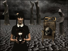 Welcome to eternity (bdira3) Tags: surreal atmospheric girl hourglass souls otherworldly scull textured
